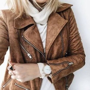 Suede with Love Tan Moto Jacket